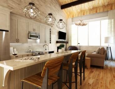 Kitchen Living Room Rendering